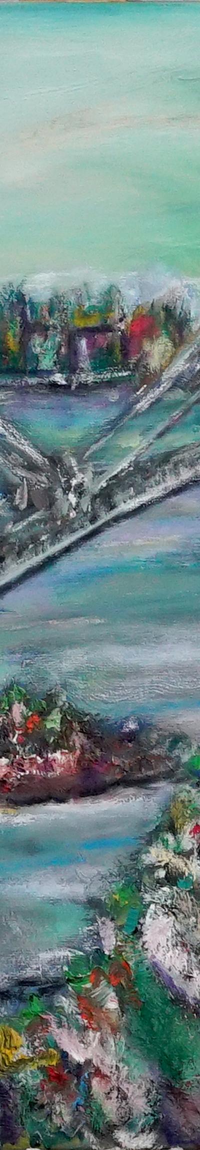 euphrat 50x60 cm, oil on canvas