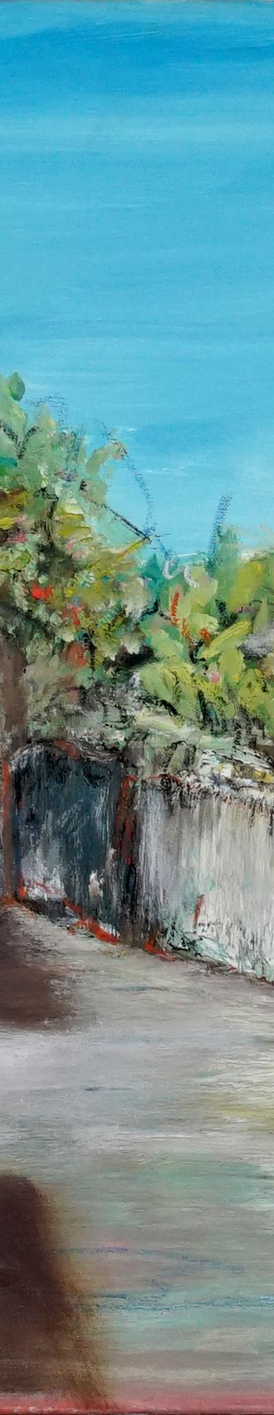 garden 70x70 cm, oil on canvas