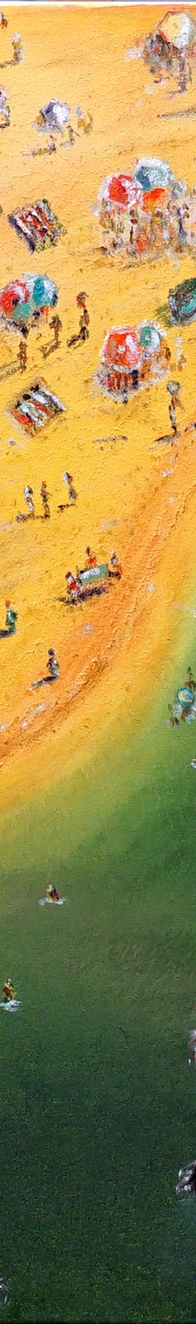 beach vacation 100x100 cm, oil on canvas