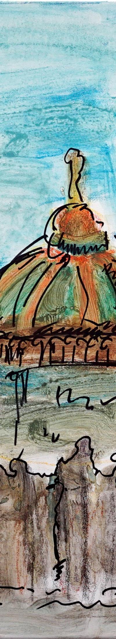landscape 79x60 cm, pastel