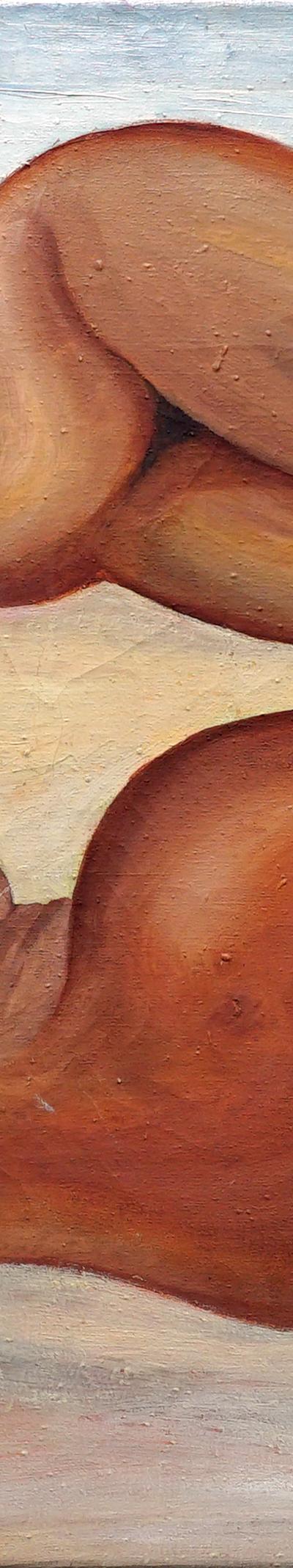 woman sunbathing 76x96 cm, oil on canvas