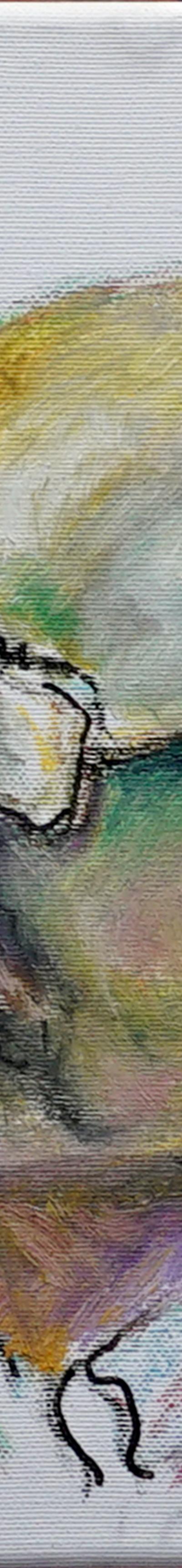 portrait 24x30 cm, oil on canvas