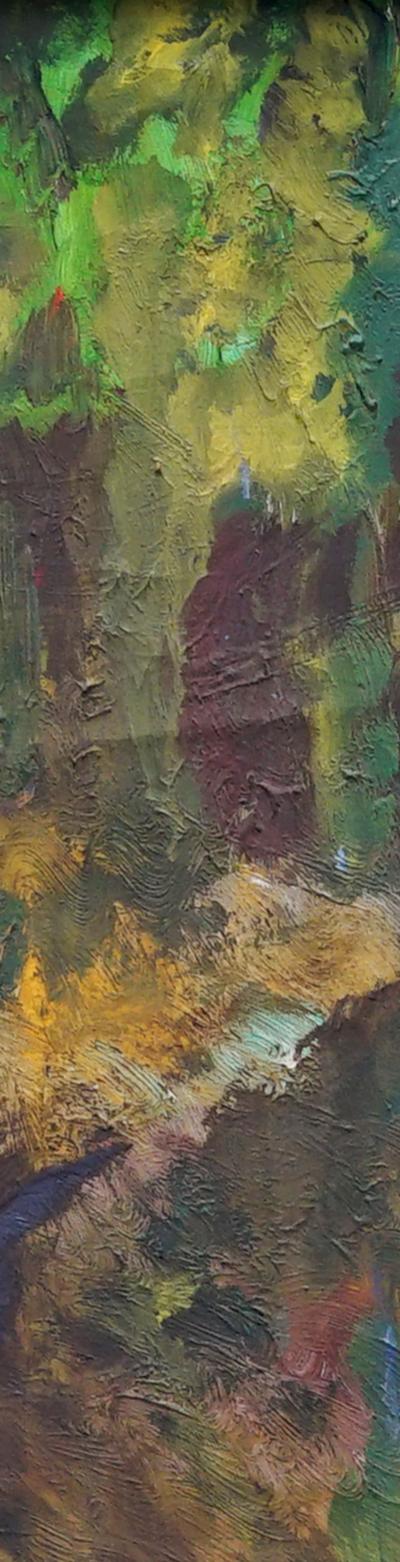 landscape 42x100 cm, oil on canvas