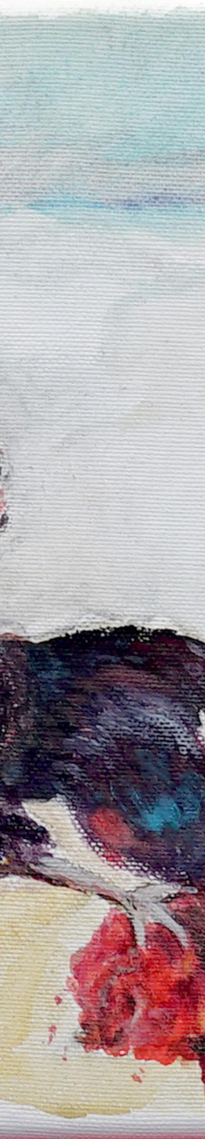 struggle  24x30 cm, oil on canvas