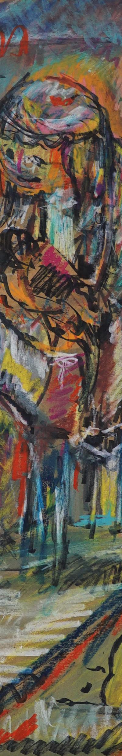 study 68x92 cm, pastel